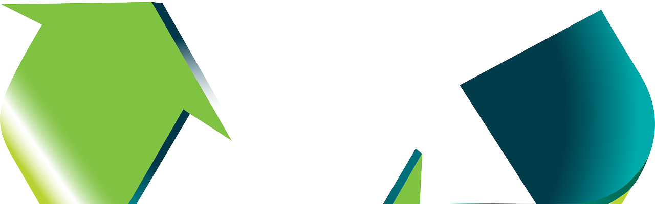 An image of the green recycling arrow logos