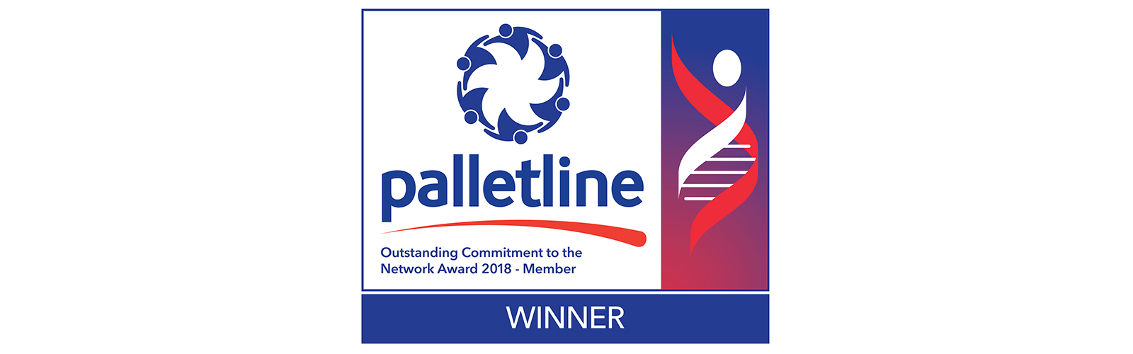 Palletline winner 2018 logo